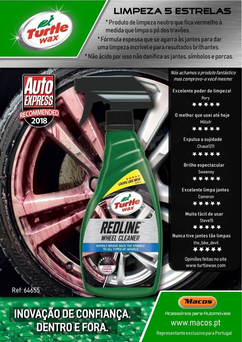 "Limpa Jantes ""Redline Wheel Cleaner"" Turtle Wax"
